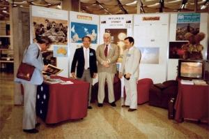 Toshio Wagai, Richard Picker, Jack Jellins - promotion of WFUMB'85