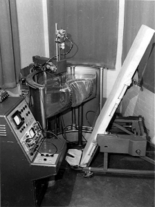 Mark I scanner with hydraulic tank lifter, Royal Hospital for Women (1963)