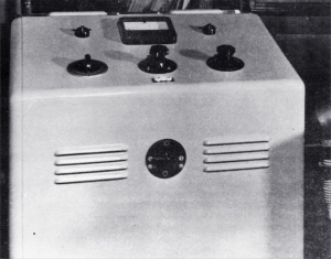 Federici ultrasonic generator used for treating Meniere's disease (1962)
