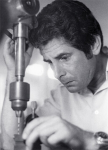Ian Shepherd making transducers (1970)