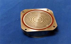 80mm diameter Octoson annular array transducer (1980)