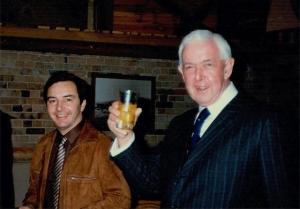 Peter Verco with Jack Jellins
