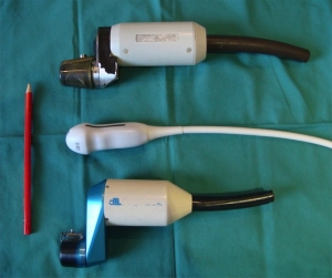 Selection of transducers old and new (courtesy Roger Gent)