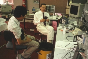 Phil Ho, Dave Carpenter in a real (messy) lab