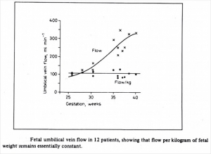 Early umbilical flow data (1980)
